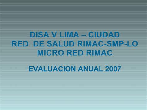Red Salud Rimac Smp Lo | evaluacion anual200701