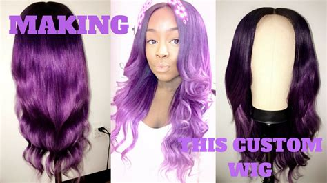 how to make color purple how to make a custom wig closure adore hair color
