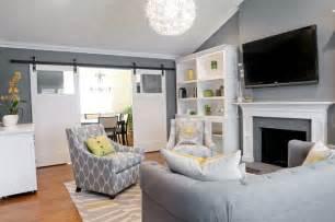 living room white grey light