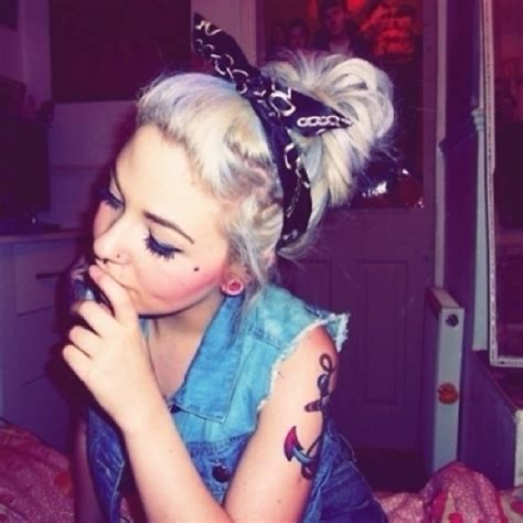 White Trash Hairstyles by White Trash Pretty I Can Dig It Festival Wear