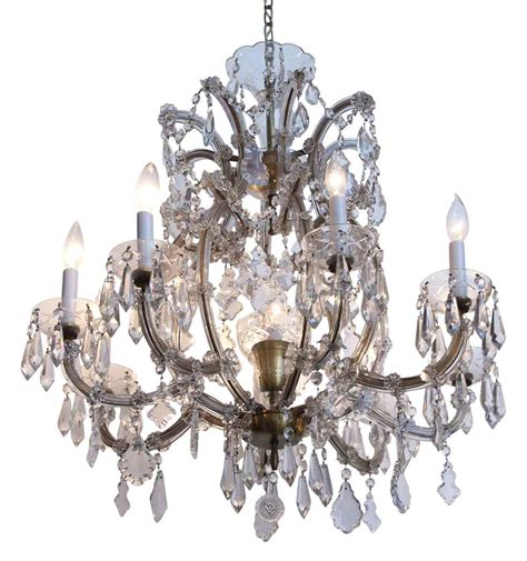 Marie Therese Eight Arm Bohemian Crystal Chandelier Olde Bohemian Chandeliers