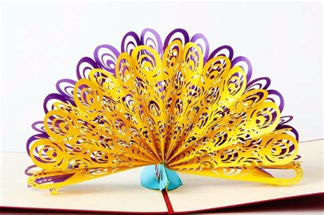 peacock pop up card template pdf 1000 ideas about kirigami on origami step by