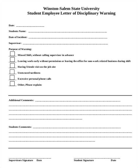 disciplinary write up form template sle employee form free sle employement application