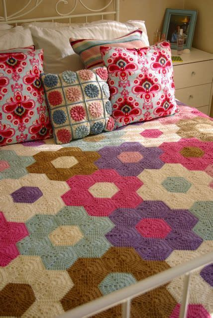 Hexagon Patchwork Blanket - best 20 crochet quilt ideas on