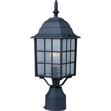 Outdoor Lighting Pole Maxim Lighting Church 1 Light Black Outdoor Pole Post Mount 1052bk The Home Depot