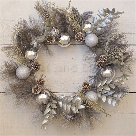 silver and wreath silver and gold wreath bliss and bloom ltd