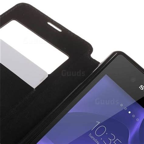 Sony Xperia E3 Roar Leather roar korea noble view leather flip cover for sony xperia