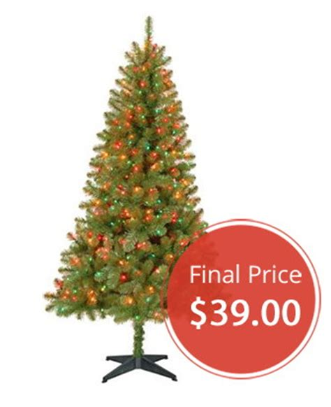 christmas trees fred meyer pre lit tree just 39 at walmart the krazy coupon