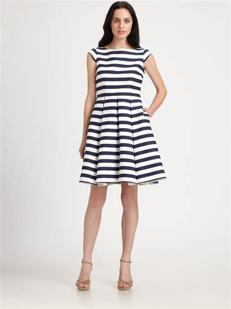 Imported Stripeca Dress kate spade new york mariella dress in blue lyst