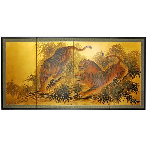 buy  gold leaf tigers   move  silk tigers