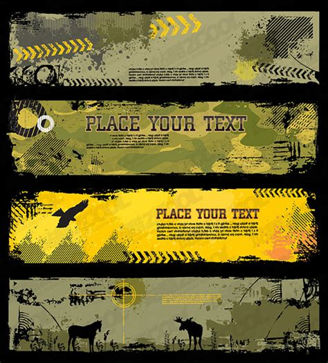 trend camouflage banner template vector graphic hive