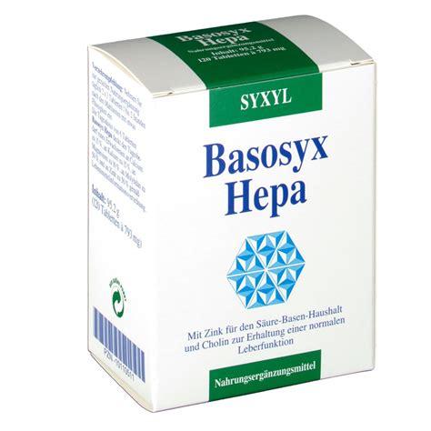 Tabletten Für Säure Basen Haushalt 467 basosyx hepa syxyl 187 preissuchmaschine de