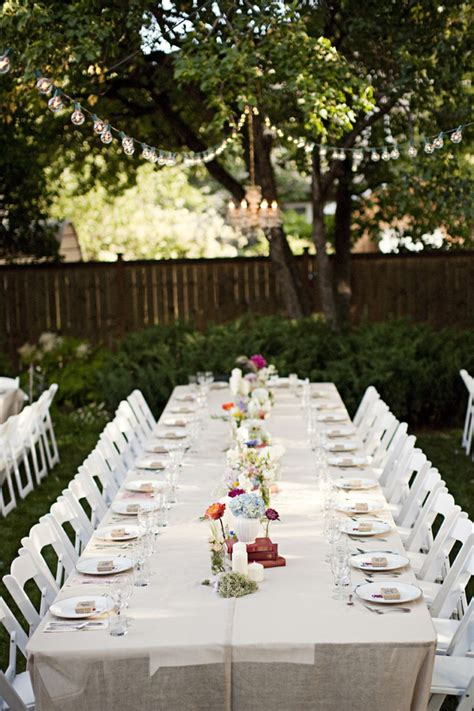 how to set up a backyard wedding genevieve joel s canadian backyard wedding backyard