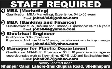 Engineering And Mba Finance by In Sheikhupura 2014 February For Mba Marketing