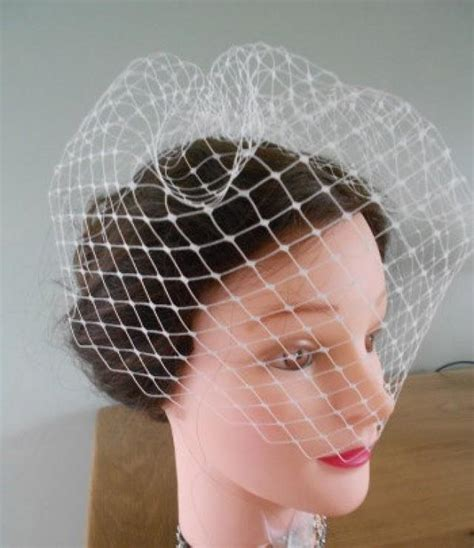 Handmade Birdcage Veil - 12 quot birdcage veil handmade in a choice of 3 colours in