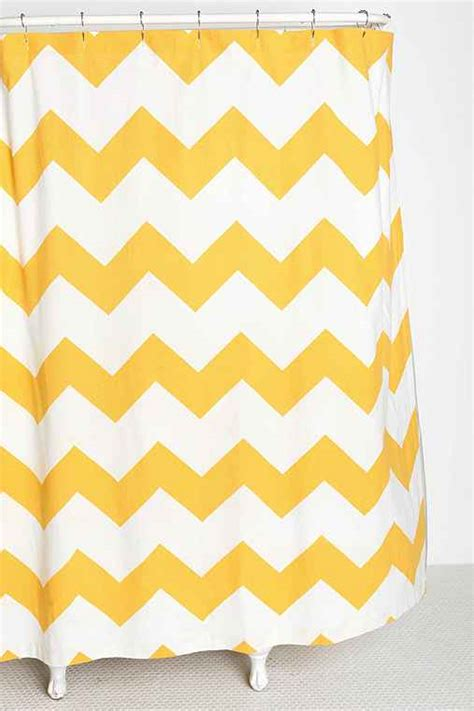 yellow and white chevron shower curtain zigzag shower curtain urban outfitters