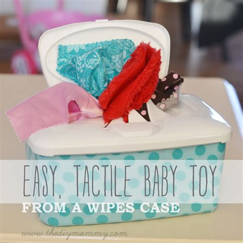 Easy Handmade Toys - easy tactile baby from a wipes by the diy