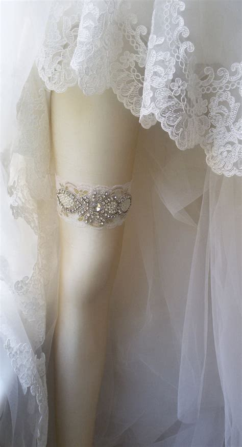 Lace Garter With wedding garter ivory lace garter bridal leg garter