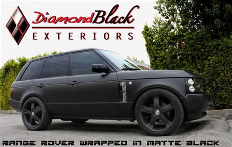 wrapped range rover range rover wrapped in matte black land rover range