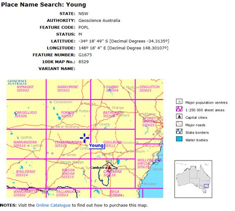 Search In Australia By Name Find And Request An Australian Topographic Map National Library Of Australia