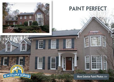 painted brick exterior diy