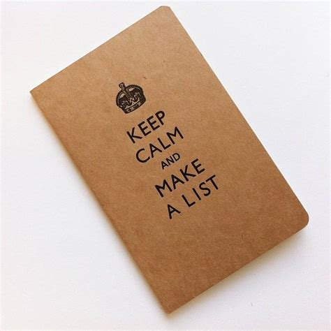 keep calm and make a list pocket notebook by