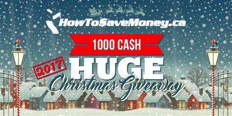 Money Giveaway 2017 - howtosavemoney ca save smarter together