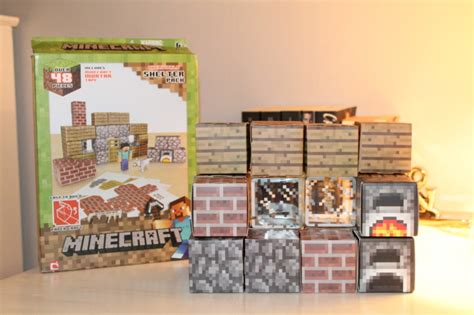 Minecraft Papercraft Shelter Set - review minecraft papercraft overworld shelter pack u