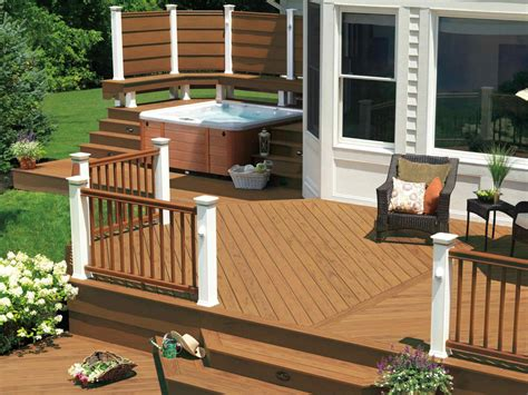 patio deck designs pictures 7 sizzling tub designs outdoor design landscaping ideas porches decks patios hgtv
