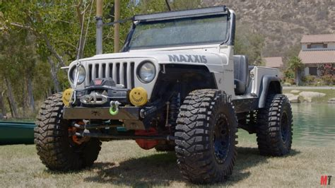jeep wrangler   cummins  drives underwater engine swap depot