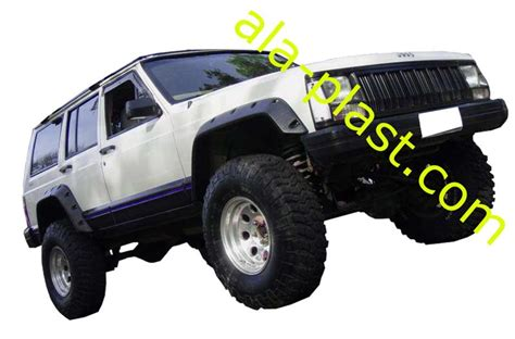2000 Jeep Wrangler Fender Flares Parafanghi Fender Flares Set Jeep Xj 1984 2000 Ebay