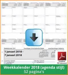 Kalender 2018 Belgie Kalenders 2018 Gratis Downloaden En Printen Feestdagen