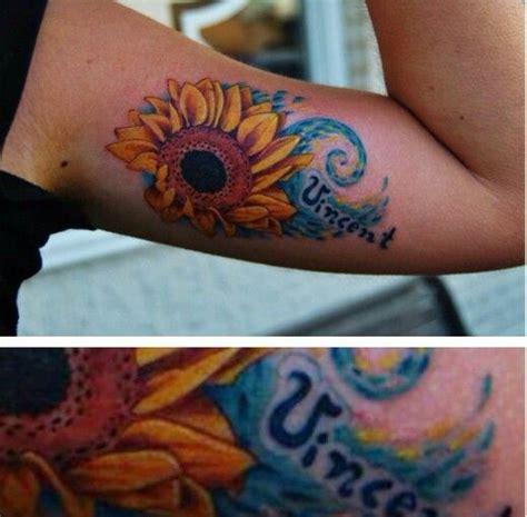 van gogh sunflower tattoo gogh sunflower inspiration tattoos