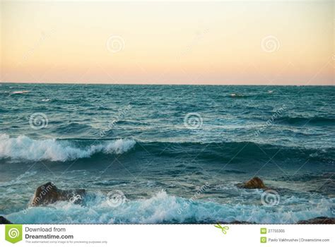 the winter sea sunset above the winter sea royalty free stock photo