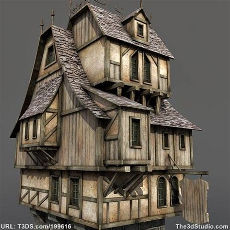 3d house builder 3d models medieval house animation pinterest house