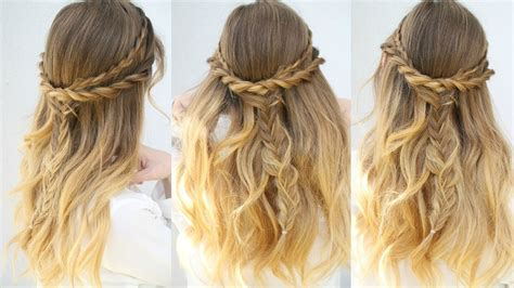 half up half down daily hairstyles casual everyday half up hairstyle half down hairstyles