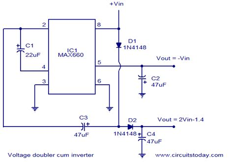 voltage doubler integrated circuit voltage doubler inverter circuit circuit diagram world