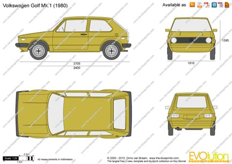 volkswagen drawing the blueprints com vector drawing volkswagen golf mk 1