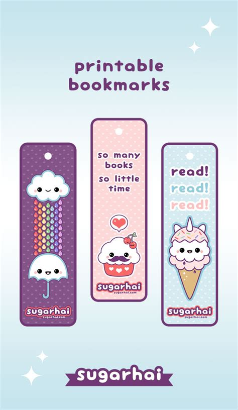 printable bookmarks to make make your own kawaii bookmarks with these free printables