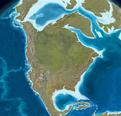million years ago these maps show how north america was formed over 550