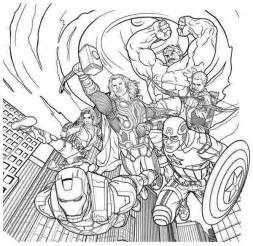 coloring page the avengers collections