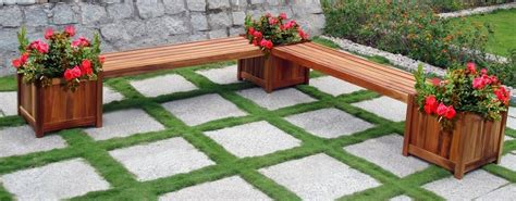 flower box bench benches with planters simple home decoration
