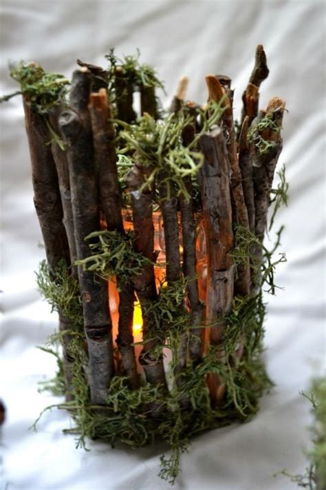 Rustic Twig Candle Holders Woodsy Weddings By Twig Candle Holder Centerpiece