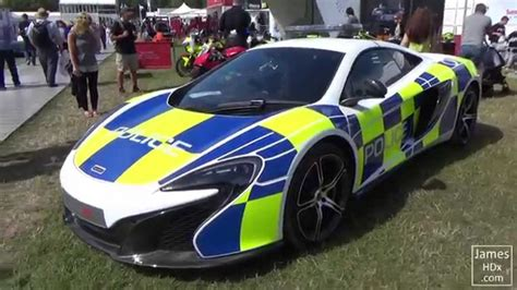 police mclaren supercars mclaren 650s in police colours at festival of