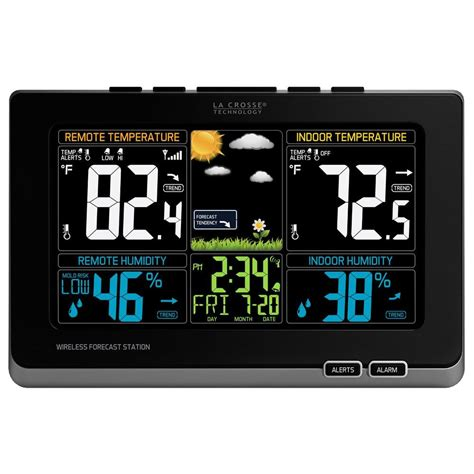 La Crosse Technology Digital Wireless Color Weather Station with Mold Indicator in Black 308