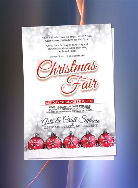 christmas balls flyer christmas fair flyer christmas fayre poster holiday ornament crafts