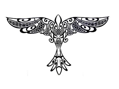 tribal crow tattoo tribal designs cliparts co