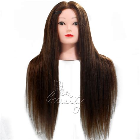 Mannequin Heads With Long Hair | 26 quot 80 long hairdressing cut mannequin real human long