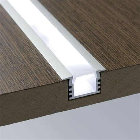led light strips for furniture 1 meter aluminum extrusion with wings and frosted diffuser
