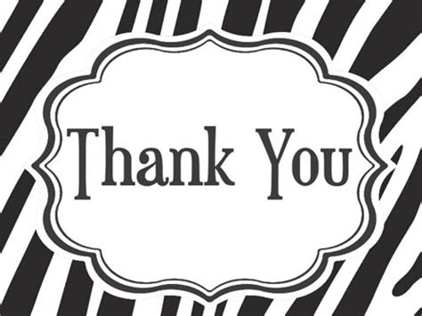 black and white thank you card template stylist printable thank you cards black and white 9 card